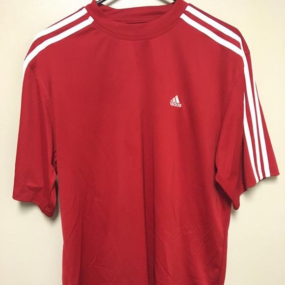 47395d76d adidas Shirts | Red Climalite Shirt | Poshmark